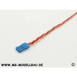 Servokabel Uni 3x0,25qmm² 30cm Blue-Line
