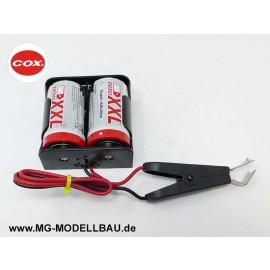 Cox Startbatteriebox mit Klip