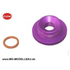 Cox .049 Glow plug adaptor Purple