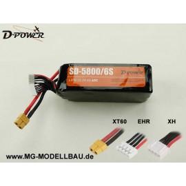 D-Power SD-5800 6S Lipo (22,2) 45C