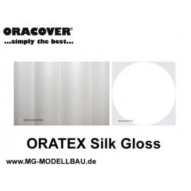 ORATEX Silk Gloss Gewebe weiss 0,5mtr